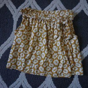 Golden Floral Skirt NWOT